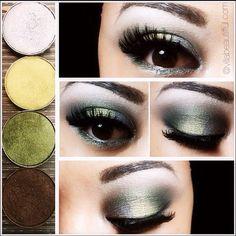 #mymotdstyle Smokey Safari Eye  MAC Eye Shadows Silver Ring, Lucky Green, Humid, and smut