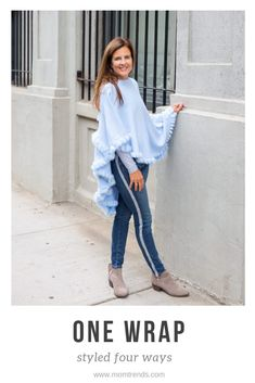 Tips for styling one wrap four different ways. Preppy Outfits, Preppy Style, Simple Outfits, Fashion Outfits, Mom Fashion, Dress Clothes For Women, Pants For Women, Fall Fashion Trends, Autumn Fashion