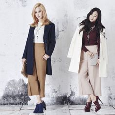Girls Generation Seohyun and Tiffany fashion for Mixxo Kim Hyoyeon, Sooyoung, Yoona, Snsd Fashion, Girl Fashion, Girls' Generation Tts, Kwon Yuri, 1 Girl, Korean Celebrities