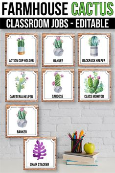 Editable Classroom Jobs with Pictures, Farmhouse Cactus Classroom Decor Classroom Jobs, Classroom Setting, Classroom Displays, Classroom Decor, Teacher Created Resources, Math Resources, Class Management, Classroom Management, Pet Helpers