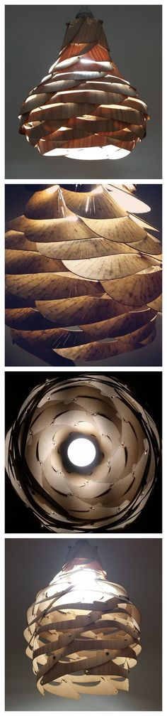Bloom parametric pendant lamp #laser_cutter #decoration #lighting