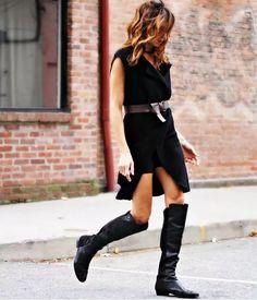look-vestido-cinto-e-bota
