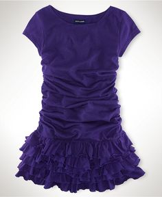 Party time! Ralph Lauren Girls Dress, Little Girls Ruched-Sleeve Dresses - Kids Girls 2-6X - Macy's $39.50 #MacysBTS