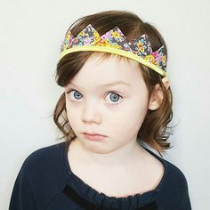Handmade in the USA by Glitter+Wit. Crown Headband, Modern Kids, Floral Crown, Couture, Kids Outfits, Glitter, Instagram Posts, Handmade, Kids Clothing