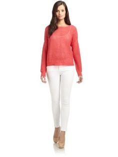 Cullen Linen Sweater in Tomato