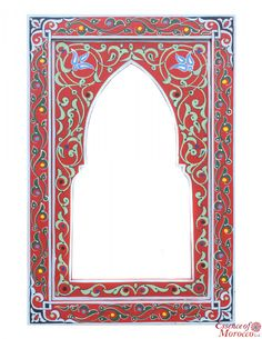 zwak mirror Handmade by local artist in Morocco. Skillfully hand-painted in gorgeous white gold in Marrakech in the ancient Zouak style. Borders For Paper, Borders And Frames, Colorful Wallpaper, Black Wallpaper, Moroccan Mirror, Column Design, Fairy Doors, Moroccan Style, Illuminated Manuscript