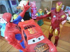 Relâmpago Lightning McQueen Cars Homem Aranha Spiderman Homem de Ferro T...
