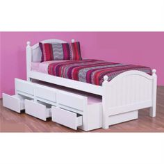 Single Bed with trundle & storage