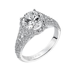 Brides: Round-Cut Engagement Rings: Get the Look | Engagement Rings | Brides.com