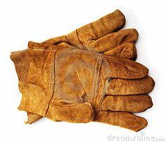 Leather work gloves by Irochka, via Dreamstime