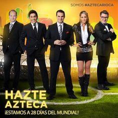 ¡Experiencia y belleza #Aztecarioca! ¡@InesSainzG te mantendrá informado de todo lo que pase en Brasil! ¡Ya estamos a 28 días! ¡Estadios, aficiones y sentimientos! ¡Todo está preparado para que la energía #Aztecarioca se adueñe de nosotros! ¡Somos #LaVozDelMundial!