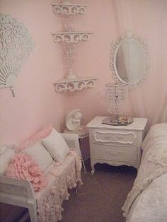 Bed room-part of the shabby chic decorating