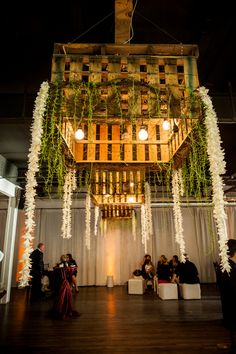 Amazing hanging floral wedding decor {Photo by Viera Photographics via Project Wedding}