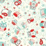 The Little Fabric Shop | Collections - Nested Owls - Coral