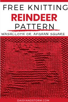 Free Christmas Themed Dishcloth and Afghan Squares Knitting Patterns Knitted Squares Pattern, Knitted Dishcloth Patterns Free, Easy Scarf Knitting Patterns, Knitted Washcloths, Animal Knitting Patterns, Knitting Machine Patterns, Knit Dishcloth, Christmas Knitting Patterns, Knitting Designs