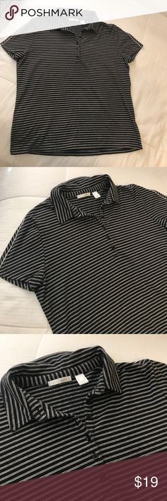 Striped Liz golf collared shirt In perfect condition! Great collared shirt and is super comfy and cute! Love this shirt. 🖤 Urban Outfitters Tops