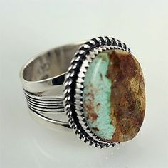 Native American Turquoise Jewelry | NATIVE AMERICAN JEWELRY, Boulder Turquoise Ring 12.5 | eBay