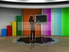 Stock illustration: studio tv virtual set for chroma green tv background Virtual Sets Design, Creation, Production & Compositing. Computer Animation for Green Screen, Blue Screen & Chroma Key . Kids Studio, Chroma Key, Computer Animation, Tv Decor, Windows 10, Diy, Inspiration, Illustration, Design