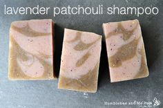 Lavender and Patchouli soap bars. These are my top two most favorite fragrances therefore this will be on my to do list as soon as I make a trip to the co op:)