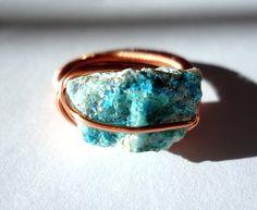 raw stone copper ring. #jewelry
