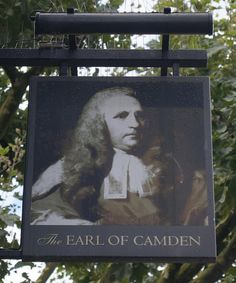 Pub Sign Art a la cARTe: The Earl of Camden - London, Camden, NW1
