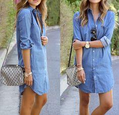 la robe chemise en jean