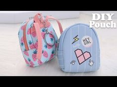 Diy mini backpack pouch tutorial // money phone case backpack from scratch. Backpack Tutorial, Backpack Pattern, Purse Tutorial, Wallet Pattern, Tote Pattern, Purse Patterns, Sewing Patterns, Mochila Tutorial, Sacs Tote Bags