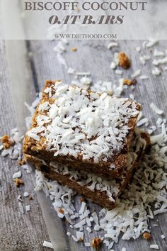 #Biscoff Coconut Oat Bars