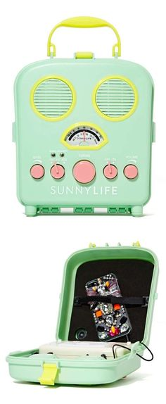 Sunny Life Beach Sounds Portable Speaker compatible with iPod, iPhone and most MP3 players. Sand and water resistant. Perfect!