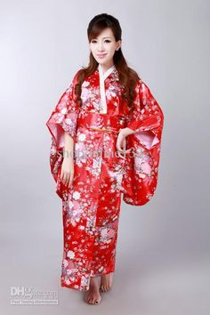 traditional japanese kimono | ... Kimono Robe Red Japanese Kimonos Traditional Japanese Ethnic Dress