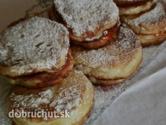 Jablkovo-tvarohové lievance Eastern European Recipes, Russian Recipes, Breakfast Recipes, Pancakes, French Toast, Muffin, Menu, Bread, Cheese