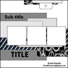 GrandDiva's Creative Corner: August 2016 Sketch and Scrappy Friends Challenges