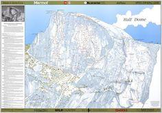 Half Dome Climbing Routes Poster