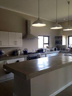 Cemcrete kitchen island countertop