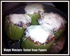 Heathly Meals Monday: Weight Watchers Stuffed Green Peppers