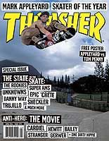 Thrasher Has a 'Skater Of The Year' every year this one is Mark Appleyard Flip Skateboards, Old School Skateboards, Skateboard Mag, Thrasher Magazine, Sad Wallpaper, Backrounds, Floral Border, Free Prints, Picture Wall