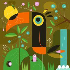The toucan Art Print by Jean-Sébastien Deheeger   Society6
