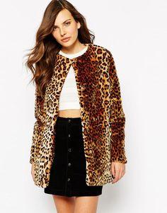 AX Paris | AX Paris Coat in Leopard Faur Fur check out my blog :) handlethisstyle.com
