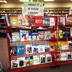 Our STEM Maker Library. Great list of books and resources for you makerspace collection.