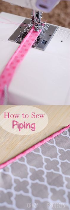 How to Make Piping to Sew With