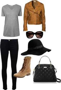 """""""Jennifer Lawrence Style"""" by crcockrell on Polyvore.... Maybe no hat for me, but I'll take the rest of it"""
