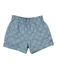 Look at this Blue Spotty Flower Shorts - Infant, Toddler