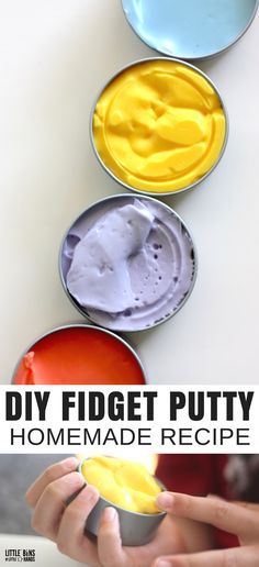 Make Your Own Homemade Fidget Putty Recipe for Less! is part of Fun Kids Crafts Homemade - We show you how to make homemade fidget putty recipe for less! 3 ingredients and we take our classic slime recipe and turn it into homemade putty for kids