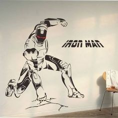 Put the Vinyl Ironman on Your Wall | 9 Feature Wall Decal Designs You Will Love It