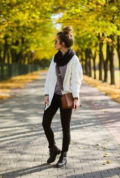 White Loose Cable Knit Cardi