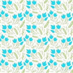 'floral pattern with blue flowers leaves' by Chris olivier Framed Prints, Canvas Prints, Art Prints, Dresses With Leggings, Blue Flowers, Wall Tapestry, Decorative Throw Pillows, Leaves, Artists