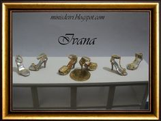 Miniature shoes 1:12- colección Gold