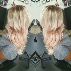Rose Gold Platinum Blonde Hair