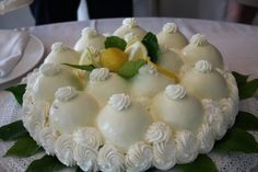 Delizia al limone - The lemon delight is one of the most typical sweets of the culinary heritage of Campania
