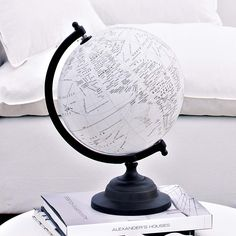 dazzling white globe